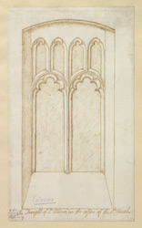 (View of a Gothic Window near the Font of St Marys Church, Dover) 48q